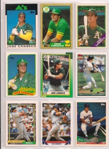 Jose Canseco Topps 1